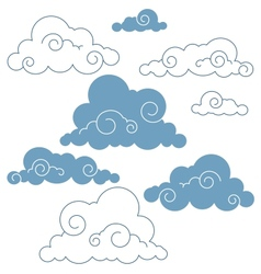 collection of clouds vector image