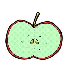 comic cartoon sliced apple vector image vector image