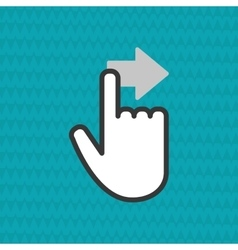 Communication design Cursor icon Colorful vector image vector image