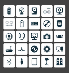 Computer icons set collection of desktop computer vector