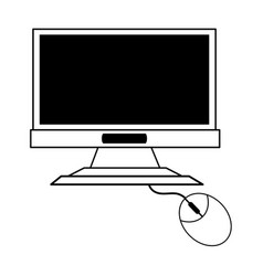 Computer monitor icon image vector