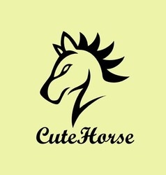 Cute horse logo vector