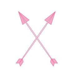 decorative arrows boho style vector image vector image