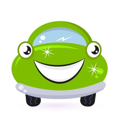eco green car vector image