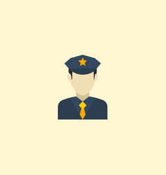 flat icon officer element of vector image