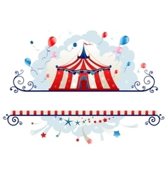 Frame with circus tent vector
