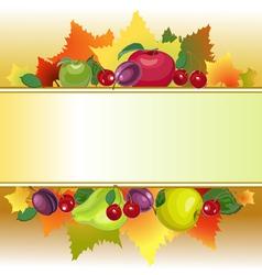 Fruit text box vector