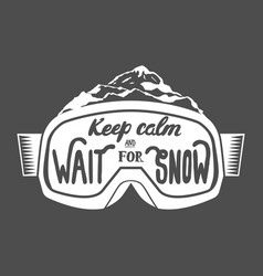 Handdrawn vintage snowboarding quotes vector