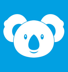 Koala icon white vector