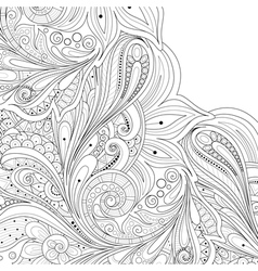 Monochrome floral background vector
