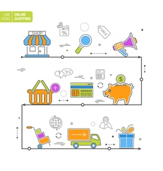 Online Shopping Process vector image vector image