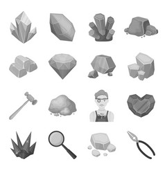 Police set icons in monochrome style big vector