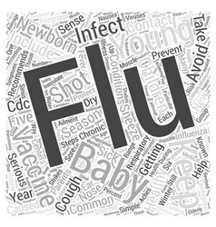 Protect your newborn from the flu word cloud vector