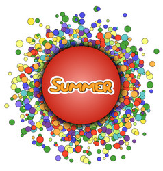 red sphere with yellow lettering summer vector image vector image