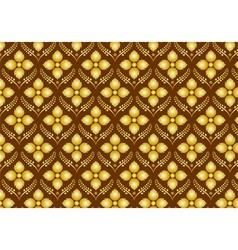 Retro thai flower pattern on brown background vector