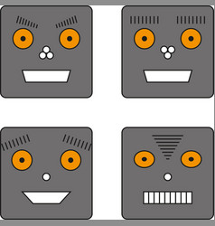 Set of four robots vector