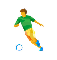 Soccer player isolated on white vector
