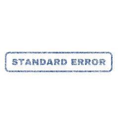 standard error textile stamp vector image vector image