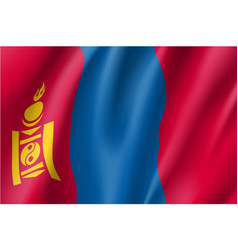 The flag of mongolia flat style vector