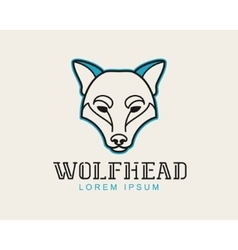 Wolf head logotype vector