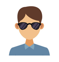 Young man with elegant clothes and sunglasses vector