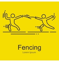 Fencing athletes isolated vector