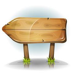 Comic wooden sign arrow vector