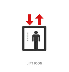 Lift icon symbol isolated vector