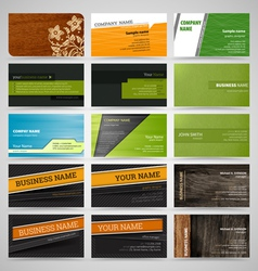 Set of business cards8 vector image