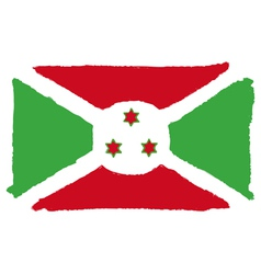 Flag of burundi handmade vector