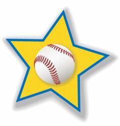 All star baseball or softball vector