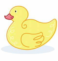 cute yellow duck vector image