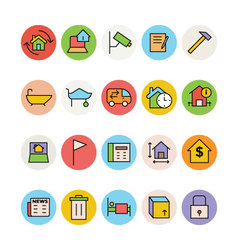 Real estate icons 8 vector