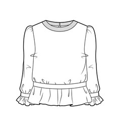 Blouse for women vector