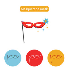 carnival mask icon line icon flat sign vector image vector image