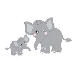 cute cartoon elephants vector image vector image