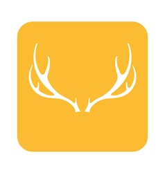 Deer horns icon vector