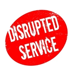 Disrupted service rubber stamp vector