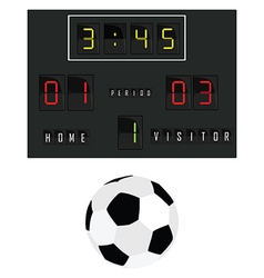 Football scoreboard vector image
