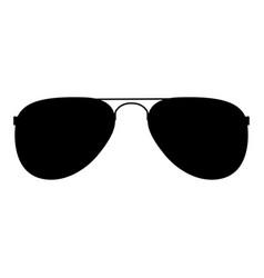Glasses the black color icon vector