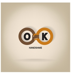 Handshake abstract symbol vector image vector image