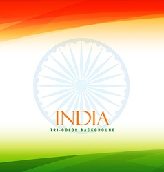 Indian flag tricolor background vector