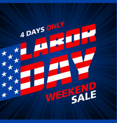 labor day weekend sale advertising banner design vector image vector image