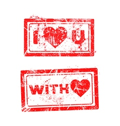 love concept grungy rubber stamp vector image