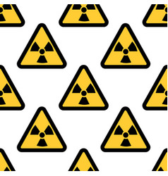 radiation warning sign seamless pattern isolated vector image