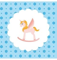 Rocking horse unicorn vector