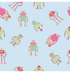 Seamless pattern wallpaper design with robots vector