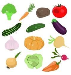 set of cartoon vegetables vector image vector image