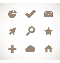 Set of universal icons vector image