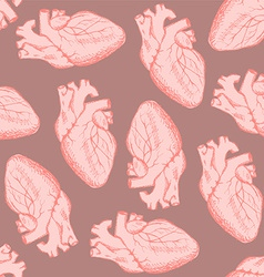 Sketch human heart in vintage style vector image vector image